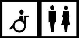 Rollstuhl-WC, normale Toilette
