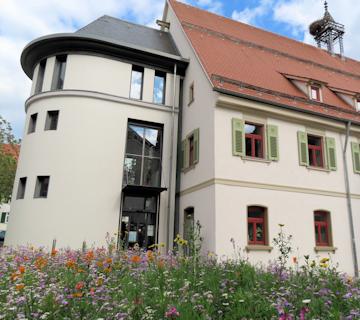 Blühender Marktplatz